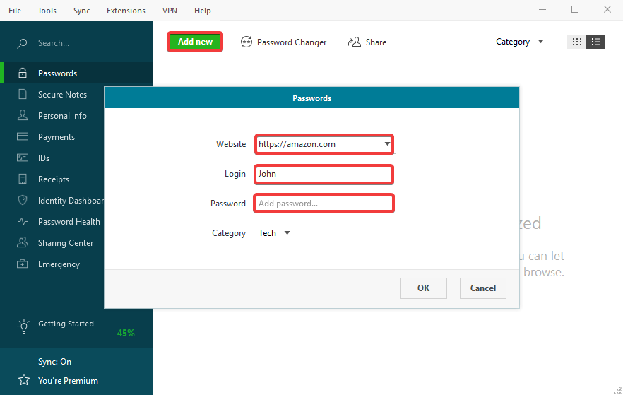 How to add and manage logins and passwords in Dashlane – Dashlane
