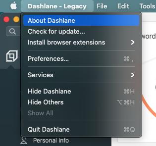 Über Dashlane für Mac