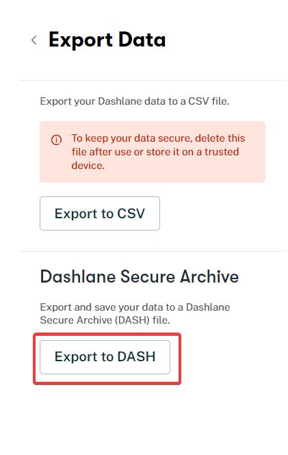 exporter à partir de l'application Web